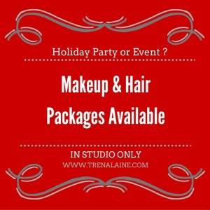 Holiday or Event Makeup with Hair